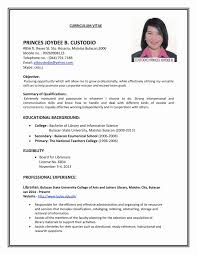 Sample Of Resume For Abroad Resume Sample For Applying Job Gallery Of Format Abroad Unique
