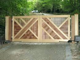 wooden driveway gates gate designs incredible how to make cheap for sale b92