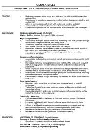 Restaurants Resume Examples Restaurant Manager Professional Resume Examples