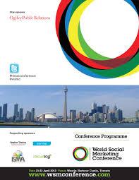 Harbour Light Strategic Marketing World Social Marketing Conference 2013 Programme By World