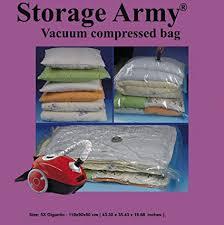 Amazon.com: Storage Army [Pack of 5 Gigantic] Storage Bags Sealed ...