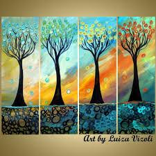 gift modern abstract art for original abstract tree paintings artbyluizavizoli