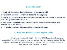 values education personhood development lecture  5 b values education1