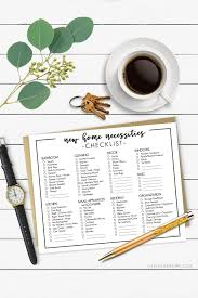 New Home Necessities Checklist Printable Resource Live Laugh Rowe