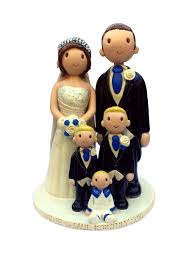 Wedding Cake Toppers Hand Made Personalised Ceramic Cake Toppers