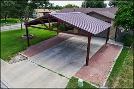 free standing patio covers metal. Free Standing Steel Carport Pictures- Kirby Job - San Antonio Texas Patio Covers Metal T