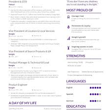 Best One Page Modern Resume Modern Yahoo Resume Template Yahoo Ceo Marissa Mayer S One Page Cv