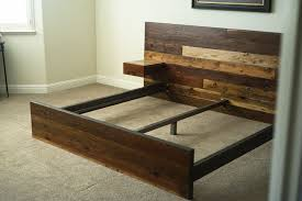 Distressed Wood Bed Frame Reclaimed Wood Bed | Craft board ...