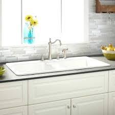 white kitchen sink with drainboard. Cast Iron Kitchen Sink With Drainboard White Double Bowl Drop In Sanford . S