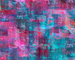 modern abstract painting berry pink purple and blue abstract by lee ann asch