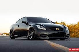 Blacked out Infiniti G37 on Vossen wheels. | Rides | Pinterest ...