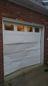 broken in garage door
