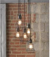 industrial chic lighting. Set Off An Industrial Theme With These Wire Cage Lights. Chic Lighting U