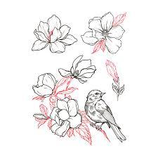 Temporary Tattoos Buy Magnolia Season Color