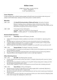 Simple Cv Examples Uk Example Chronological Cv