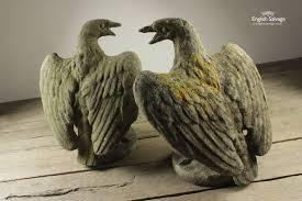 composition bird of prey garden statue