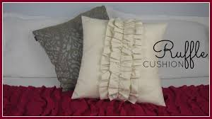 step by step sewing diy ruffle cushion cover you