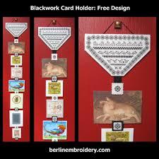 Free Blackwork Embroidery Charts Blackwork Card Holder Free Instructions Berlin