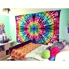 tie dye wall tapestry hand made from carjack diy