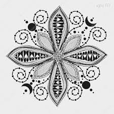 Květinové Mandaly Grafika Stock Vektor Zairat 130336472