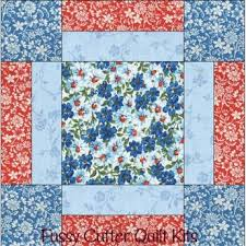 Turquoise Blue Red Flowers Floral Fabric Easy Beginner Pre-Cut ... & Turquoise Blue Red Flowers Floral Fabric Easy Beginner Pre-Cut Quilt Blocks  Kit Adamdwight.com
