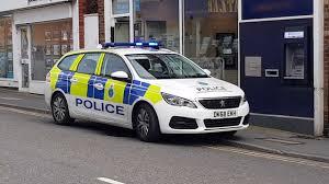 Police Car Lights Uk Uk Merseyside Police Car On Duty Flashing Lights Are All On