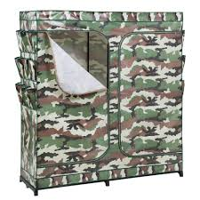 w x 20 in d double door portable closet with shoe organizer in camouflage