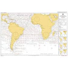 Admiralty Chart 5125 11 Routeing South Atlantic Ocean November