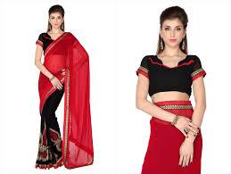 impressive designs red black. Impressive Black And Red Designer Saree 26556673 Designs R