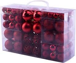 Mc Trend 100 Weihnachtskugeln In Rot Matt Glänzend Kunststoff ø Bis 6 Cm Kugeln Christbaumschmuck Baumschmuck Weihnachten In Der Farbe Rot Rot