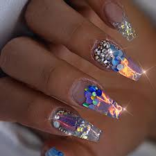 Nail Designs With Jewels 27 Lovely And Extravagant Clear Nail Designs Easy Nail Designs