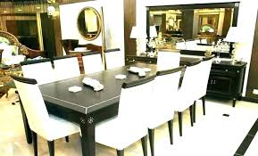 black dining table 8 chairs dark wood home interior round and rosewood