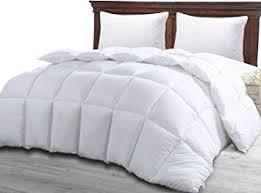 Amazon.com: Twin Comforter Duvet Insert White - Quilted Comforter ... & Twin Comforter Duvet Insert White - Quilted Comforter with Corner Tabs -  Hypoallergenic, Plush Siliconized Adamdwight.com