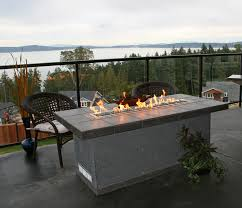 elements outdoors lineal fire table for larger