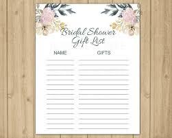 Gift Tracker Gift List Guest List Printable Gift Tracker Gift Etsy