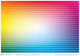 Color moods in logo design. 1025 Unique Cmyk Swatches On 1 Convenient Poster The Really Useful Poster Company