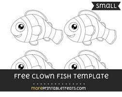 Small Fish Template Free Clown Fish Template Small Shapes And Templates Printables