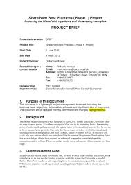 Example Of Project Design 14 Project Brief Examples Pdf Examples
