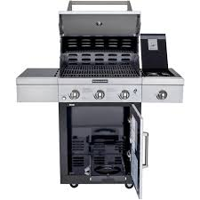 Kitchenaid 5 Burner Gas Grill Natural On Cart With Intended Design Decorating