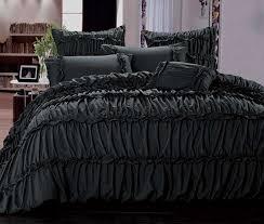 Quilt Cover Set :: Luxton Linen Australia & B0001B Charlotte Charcoal Black Quilt Cover Set Adamdwight.com