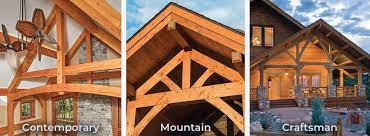 timber post and beam homes riverbend