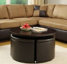 ... Coffee Table, Round Coffee Table With Storage Ottomans: Extraordinary  Round Coffee Table With Storage ...