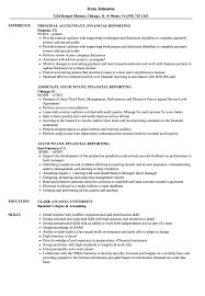 Accountant Financial Reporting Resume Samples Velvet Jobs