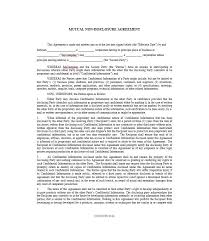 Free Nda Template 40 Non Disclosure Agreement Templates Samples Forms