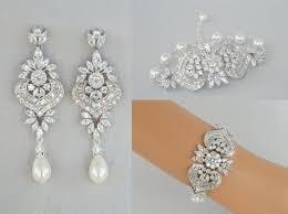 crystal bridal earrings bridal jewelry set wedding bracelet long chandelier earrings swarovski pearl bridal jewelry london jewelry set