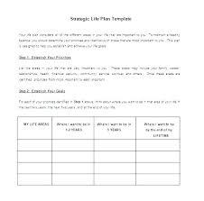 Life Planning Templates Life Plan Template