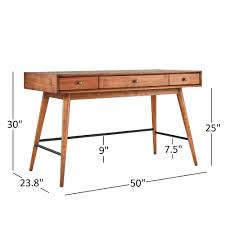 Aksel Brown Wood 3-Drawer Writing Desk iNSPIRE Q Modern - Free Shipping  Today - Overstock.com - 20763767