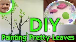 tree wall decor art youtube: c a c   diy leaf painting beautiful tree wall art for kids bedroom home decor