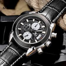 online get cheap mens watch brand aliexpress com alibaba group relogio masculino megir watch men military quartz watch chronograph mens watches top brand luxury leather sports