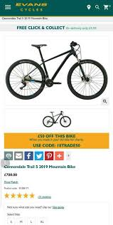 Cannondale Trail 5 Size Chart Cannondale Trail 5 Mountain Bike 29er Xl Frame In Liverpool Merseyside Gumtree
